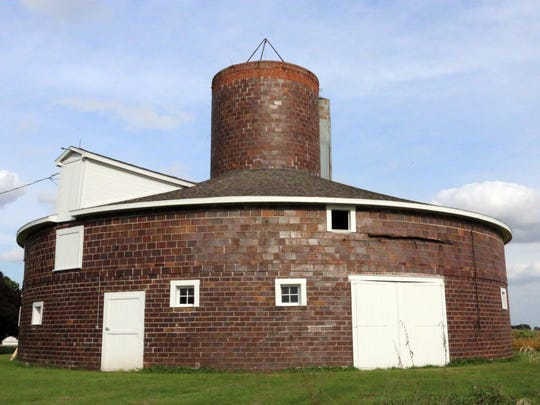 Loie Hayward's brick barn, built in 1917, stands on her family's farm just north of Dysart. The barn is one of at least 89 on display Sept. 26 and 27 as part of the Iowa Barn Foundation's statewide tour.