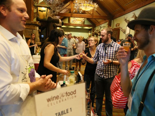 People line up at the annual Wine and Food Celebration,