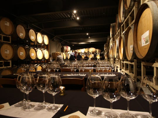 Willamette Valley Vineyards' barrel room photographed on Friday, Nov. 27, 2015.