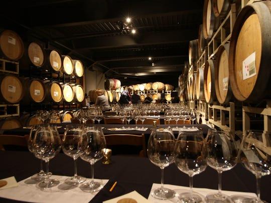 Willamette Valley Vineyards' barrel room photographed on Friday, Nov. 27, 2015.