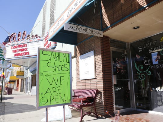 Sahemi Shoes and More is pictured Thursday on the 200 block of West Main Street in Farmington.