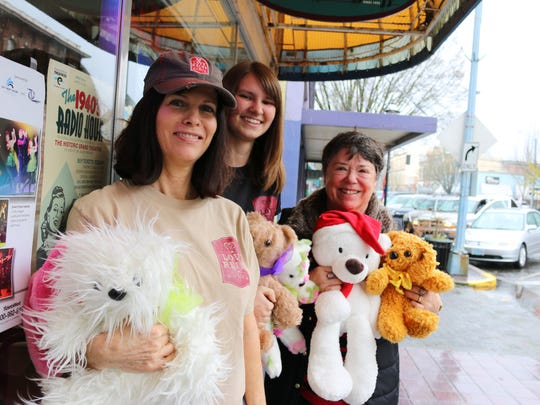 From left, Sharon Hadley, Alyssa Elms and Claudia Huntsinger and their furry friends will be raising money to benefit Love Rein Ranch Dec. 11-13.