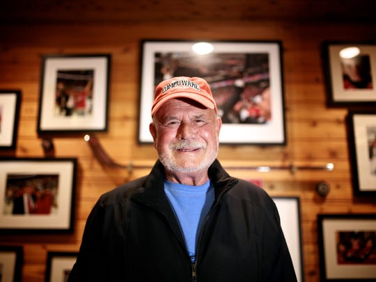 Peter Karmanos, majority owner and chief executive officer of the Carolina Hurricanes and Florida Everblades hockey franchises photographed at his home on Saturday, Oct. 24, 2015, in West Bloomfield.