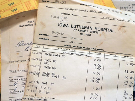 Orville Kock has a scant paper trail to help detail his months in a polio quarantine in 1952 in Des Moines.