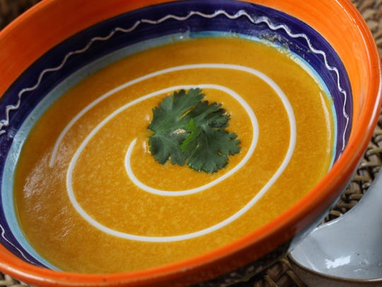 Carrot and Potato Ginger Curry Soup.