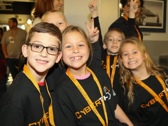 Elementary school children participated in the first day of Cyberthon, an event geared towards sparking interest in cyber security careers.