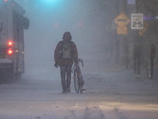 Winter Storm hits Newark Delaware January 2016