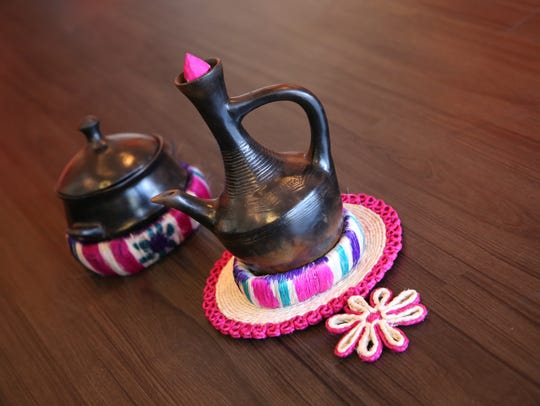 Jebena are black clay coffee pots used in everyday