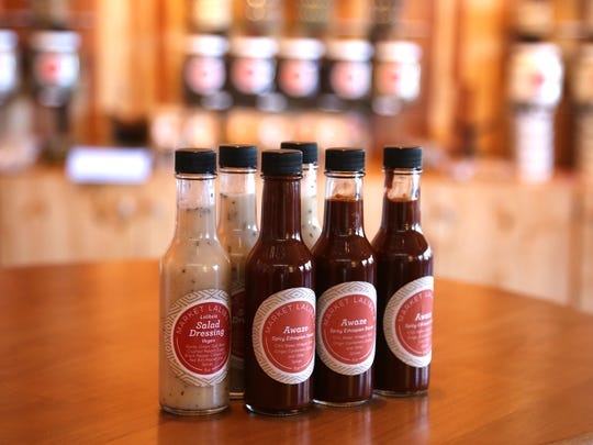 Lalibela's signature dressing and spicy sauce available