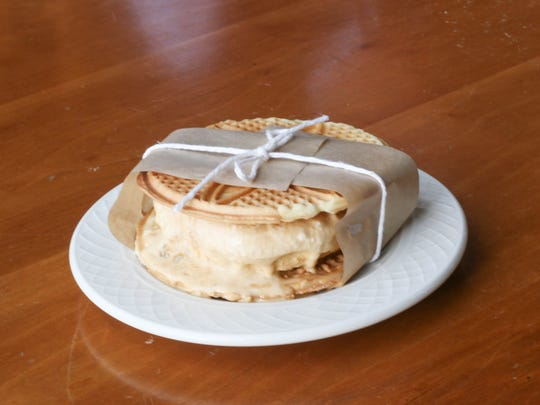 The Pizzelle Ice Cream Sandwich is served at Small Plates Thursday.