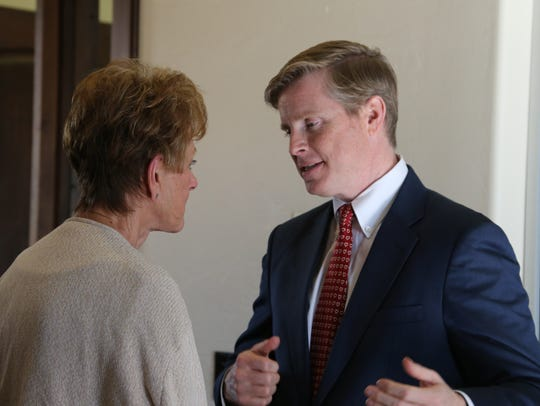 Republican Jonathan Johnson is running this year against
