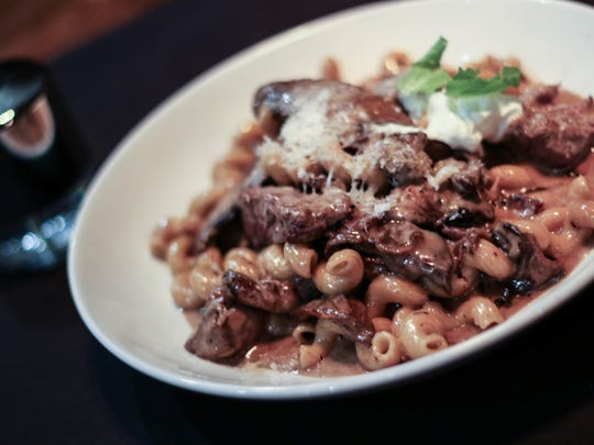 The Beef Stroganoff is served at The Barlow Room in Dayton.