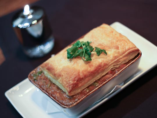 Rabbit Pot Pie is served at The Barlow Room in Dayton.