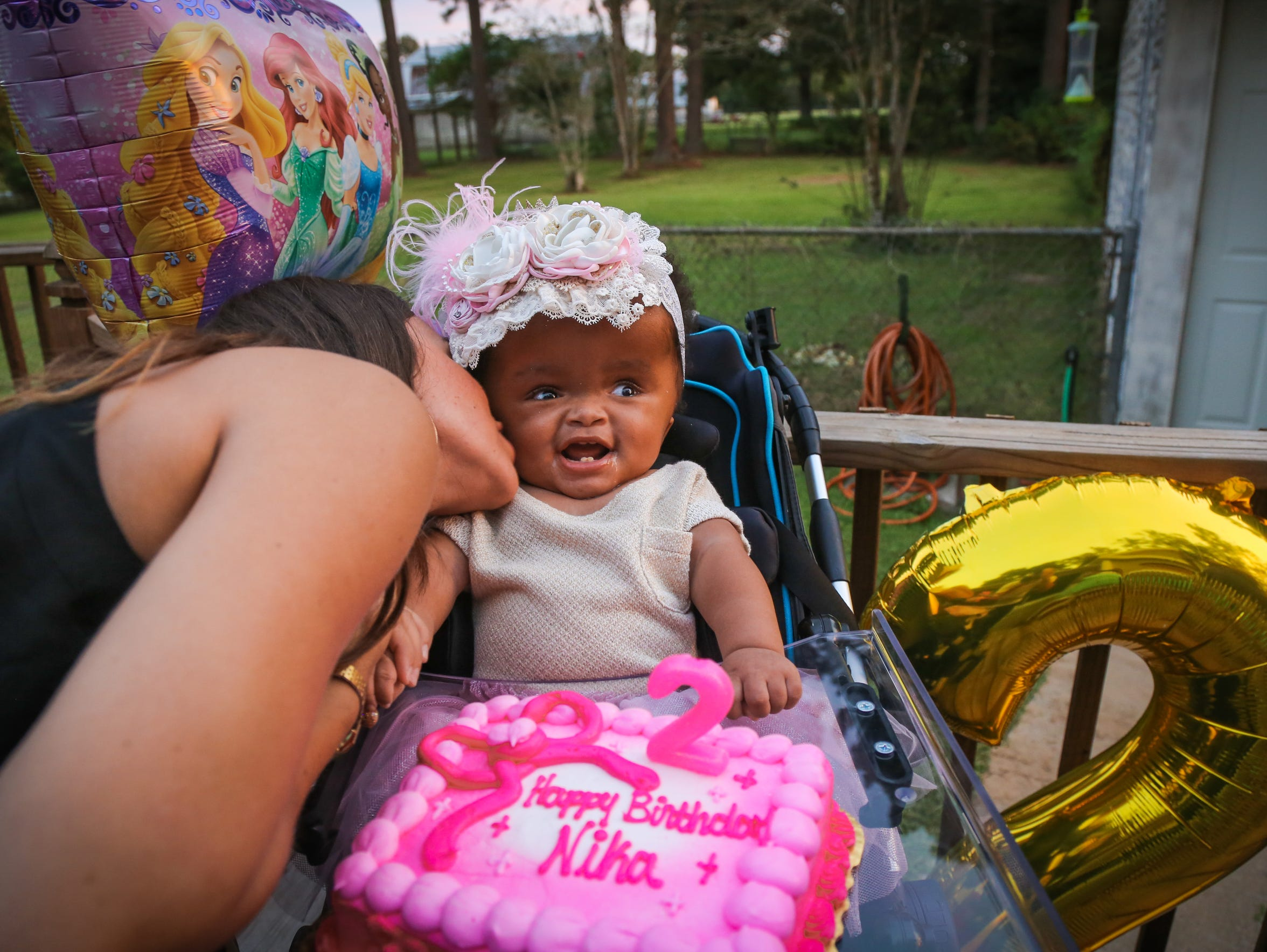 Baby Nika celebrated her second birthday in September.