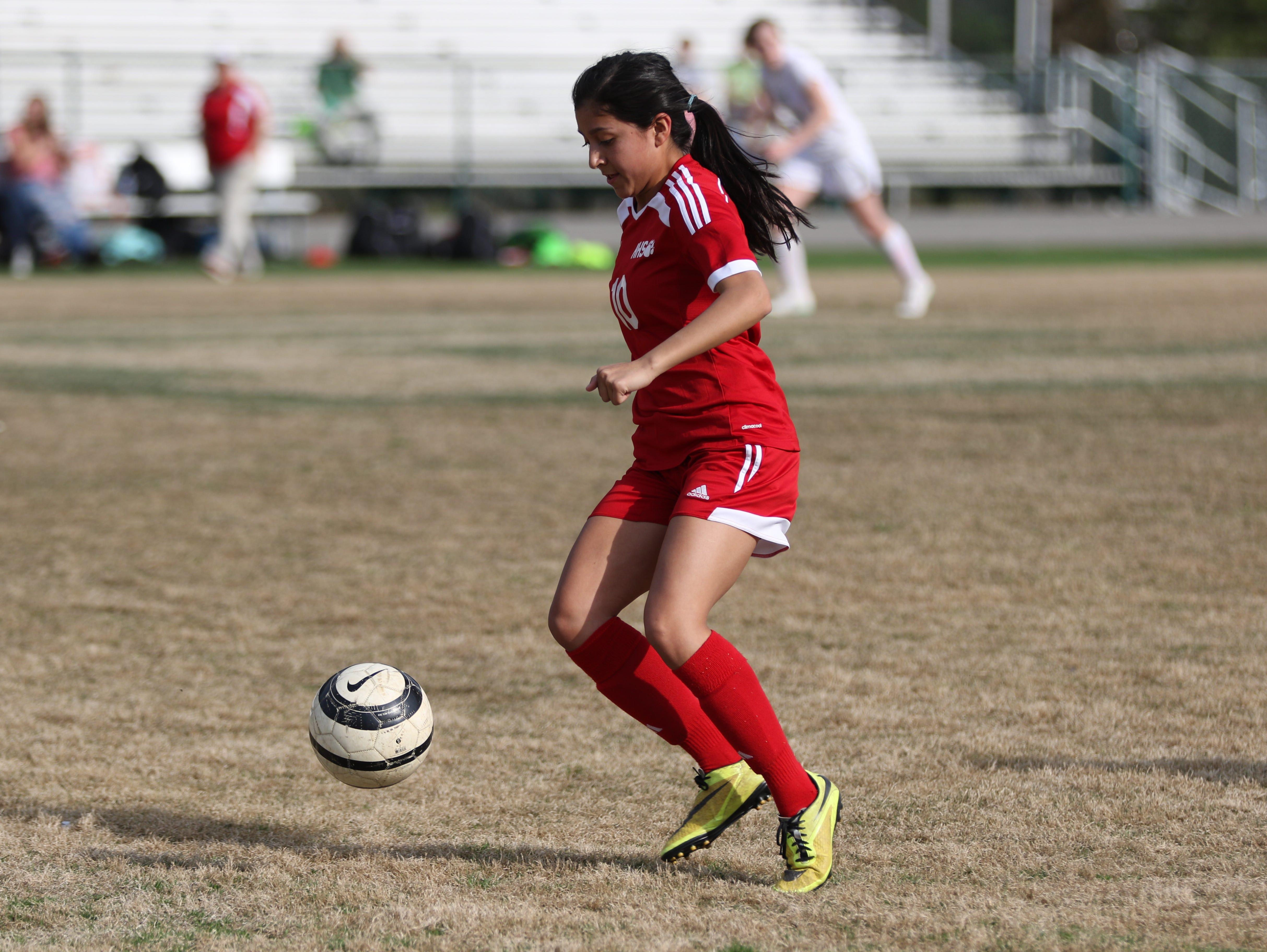Lupita Melendez is the leading scorer for the Hendersonville girls soccer team (14 goals).