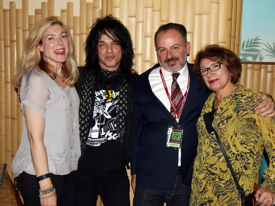 """""""Let Me Down Hard"""" director William DeVizia, second from right, is pictured with his stars Stephanie Silk, Keith Roth and Margo Crupi at the Garden State film Festival in Atlantic City"""
