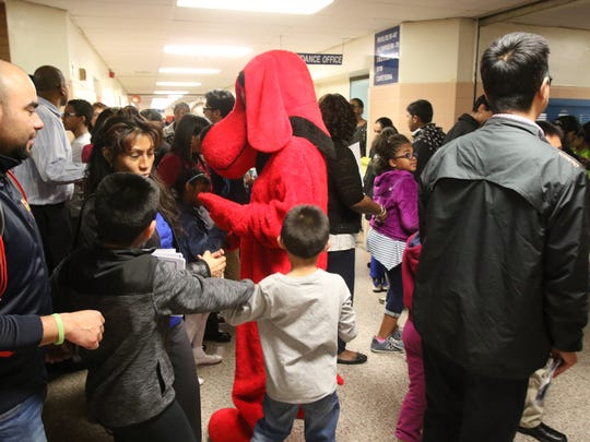Clifford the Big Red Dog was on hand to entertain and