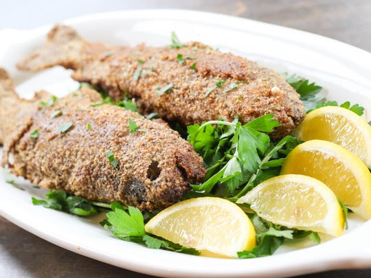 Hazelnut-Crusted, Pan-Fried Trout.