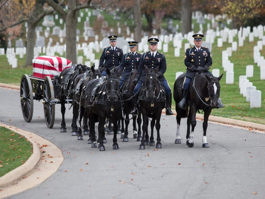 Col. Bill Richards was interred at Arlington National Cemetery in November.