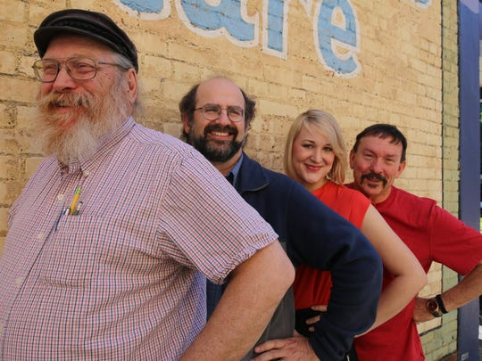 Edward Steiner (from left,) Mike Jaffe, Kristin Sprauer and John Maas came by to promote Keizer Homegrown Theatre's new production.