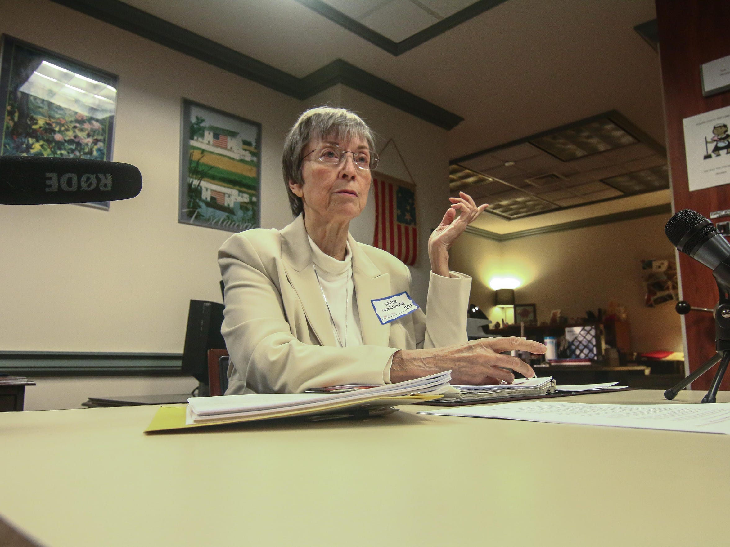 DelCOG board member Christine Whitehead, a retired government attorney, who drafted the legislation.