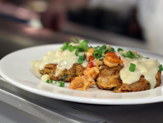 Crawfish cakes are new to Ruffino's on the River.