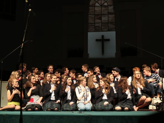 A Trinitas Christian School theater production shows the students in action.