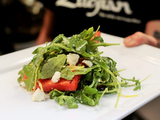 Watermelon Salad from Bad Apples Bistro