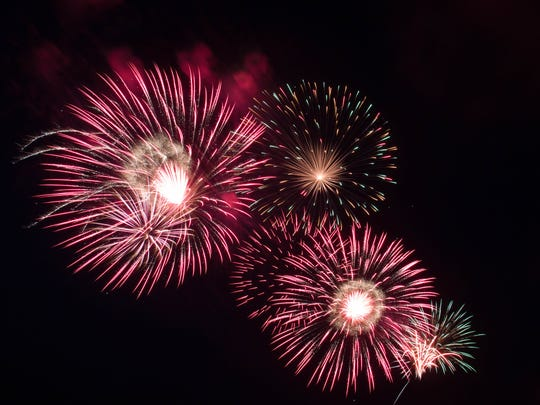 Fireworks will be at 10 p.m. Wednesday at the Coshocton County Fairgrounds. Gates open at 4 p.m. and activities start at 5 p.m. The rain date will be Thursday.