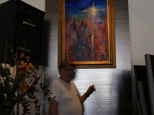 Local artist Gustave Alhadeff, painted three expressionistic