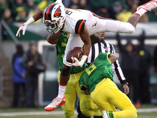 Oregon State's Seth Collins, who ran for three touchdowns in the 2015 Civil War, is expected to have a multi-dimensional role this season.