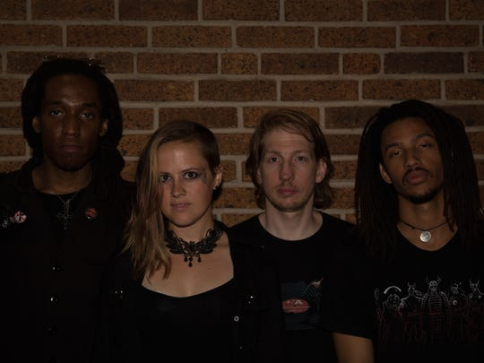 From left: New Brunswick-based gHyp:See & the Wichts are bassist Sam J. Passion, vocalist-keyboardist Audrey Wichtim, drummer Jack Leary and guitarist Justin Humphrey.