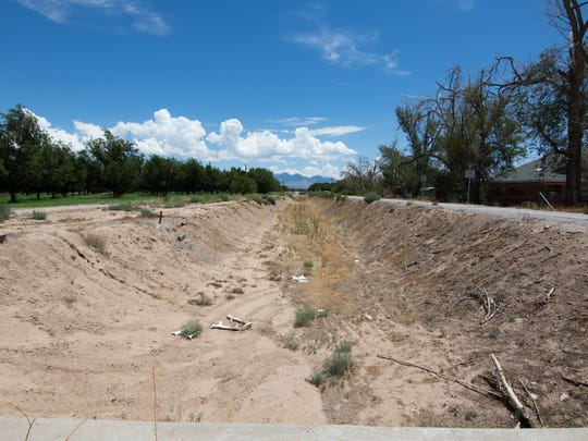 This image shows the huge Mesilla Drain which is north of the Winterhaven Subdivision on August 5, 2016.