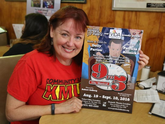 Anne McBride of the Pentacle Theatre wants a full house for a benefit performance of 9 to 5.