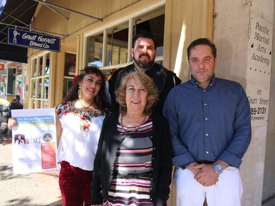 From left, Dr. Kenya M‡rquez, Rosa Olgin (front), Ismael