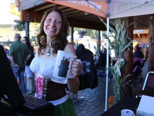 Workers and volunteers at Rocktoberfest donned traditional