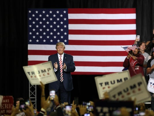 Republican presidential nominee Donald Trump holds a rally at Prescott Valley