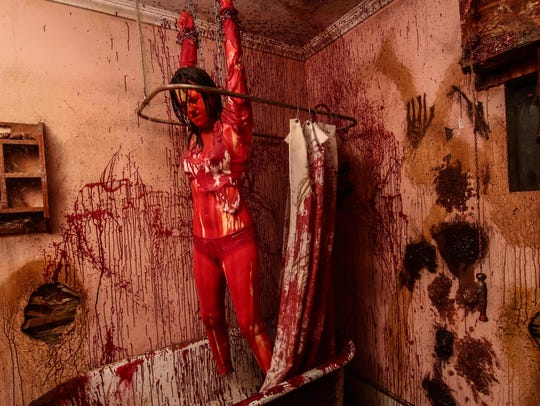 Frightland, complete with this bloody bathroom scene,