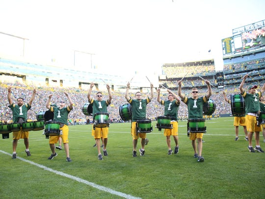 The Tundra Line is a fixture on the field at Green Bay Packers home games, but the 25-member group also spends about two hours before kickoff playing for fans and tailgaters in the area around Lambeau Field.