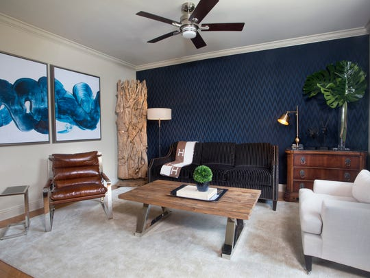Townhouse living room after renovation by Monique Breaux of POSH Exclusive Interiors