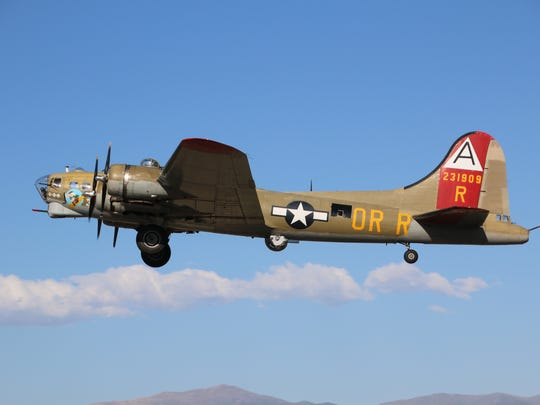 Three World War II-era warplanes will be on display through Sunday at Downtown Greenville Airport, including a B-17 bomber.