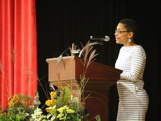 Author Martha Southgate spoke at The Pennington School on Oct. 25.