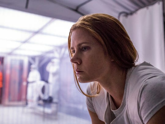 "Amy Adams plays Louise Banks in ""Arrival."""