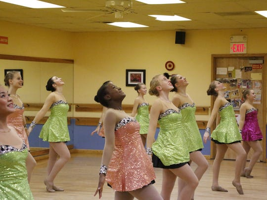 High school dancers from the Armstrong School of Dance
