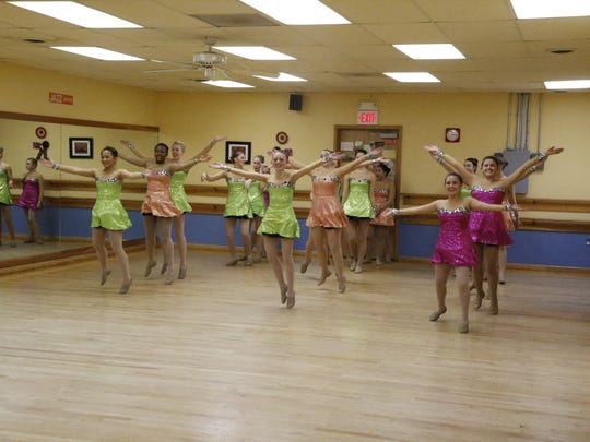 High school dancers from the Armstrong School of Dance in Ithaca practice on Wednesday, Nov. 9, for their performance in the Macy's Thanksgiving Day Parade on Nov. 24.