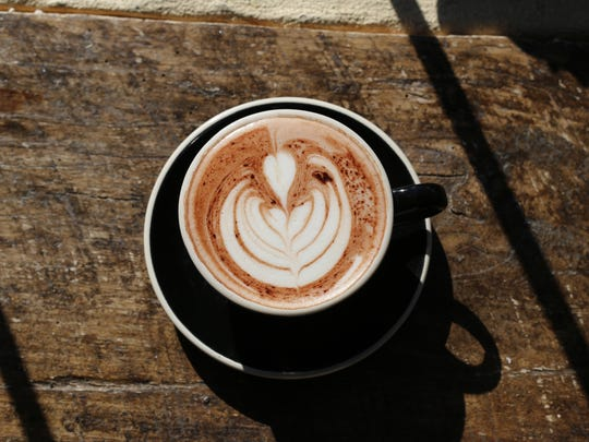 A touch of honey helps distinguish the hot chocolate at Joe Bean Bar & Roastery.
