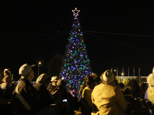 The City of Monroe holds its annual Christmas tree