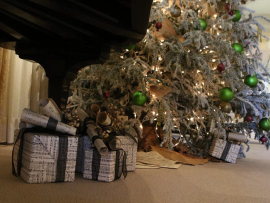 The Biedenharn Museum and Gardens is decorated for Christmas in Monroe.