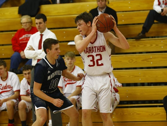 Junior forward Carter Hanke, who averages a team-high 15.0 points and 4.8 rebounds a game, is one of many reasons why the Raiders, who are ranked fifth in Division 4, hold down the top spot in the weekly USA TODAY NETWORK-Wisconsin boys basketball poll.