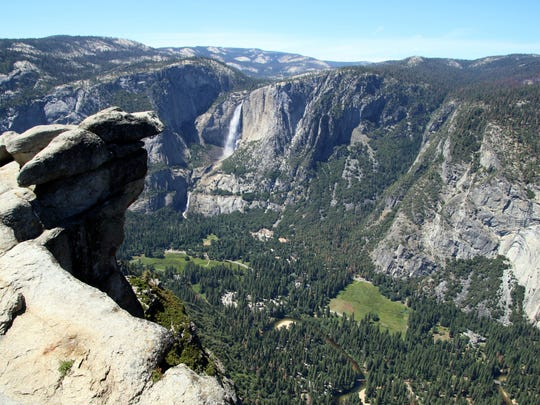 In Yosemite National Park, from the top of Glacier